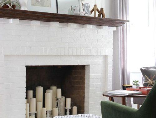 No Demo Fireplace Rehab